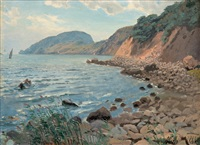 summer landscape by the shore by lev felixovich lagorio