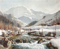 soleil sur le torrent (val montjoie) by angelo abrate