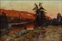 ilta-aurinko kallioilla by erik abrahamsson