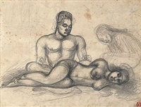 couple tahitien by octave morillot
