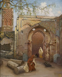 entrée de ville orientale by victor guerrier