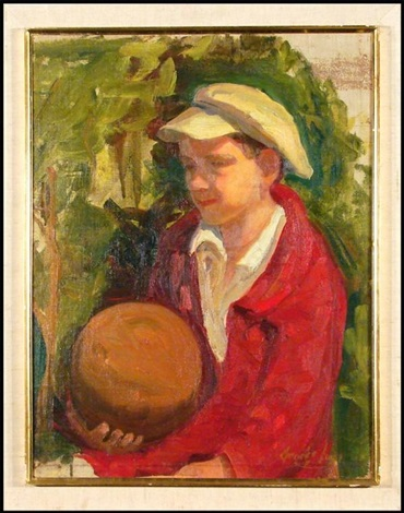 boy with ball by george benjamin luks