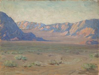 two views of the lucerne valley, california (double-sided) by kathryn woodman leighton