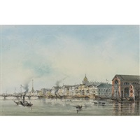 view of st. petersburg from the neva by josef iosefovich charlemagne