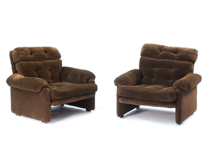 Lounge sessel  Zwei Lounge-Sessel Coronado by Tobia Scarpa on artnet