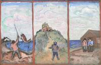 triptych, mount st. michae l by bernard gussow