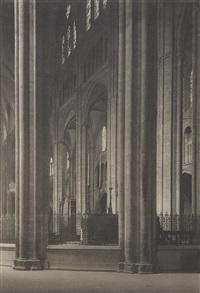 across nave (bourges cathedral) by frederick henry evans