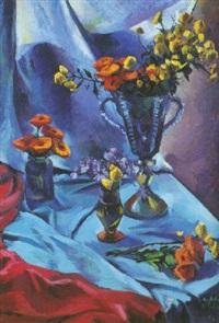 jarrones con flores by alberto fabra