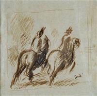 due cavalieri by virgilio guidi
