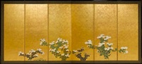 six-fold screen (pair) by japanese school-rimpa (18)