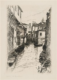 canal, venice by otto henry bacher