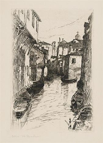 canal venice by otto henry bacher