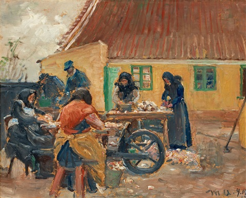 fiskrenserskor by michael peter ancher