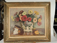 nature morte au bouquet by constantin font