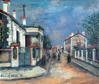 rue à sannois (val-d'oise) by maurice utrillo