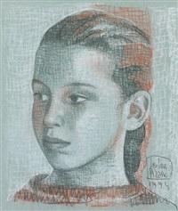 portrait de jeune fille by loulou picasso