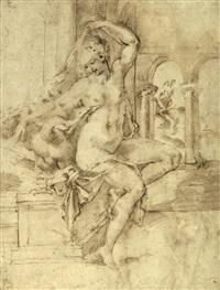 leda y el cisne (recto) y efebos (verso) by baccio bandinelli