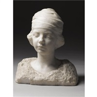 bust of kim in a turban by naum aronson