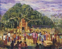 temple below the banyan by putu ngurah wardhana