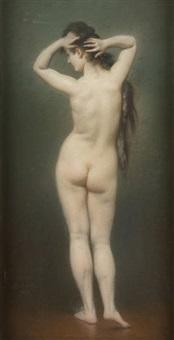 jeune fille nue de dos by ladislaus bakalowicz