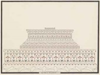 architectural studies of the taj mahal (3 works) by anonymous-indian (19)