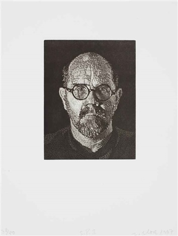 self portrait i dots by chuck close