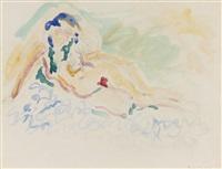 femme nue allongée by henri matisse
