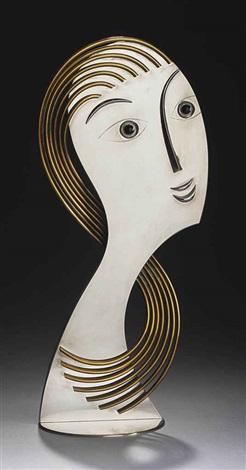 a stylized bust by franz hagenauer