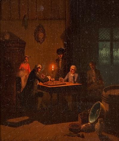 schachspiel bei kerzenschein by johann mongels culverhouse