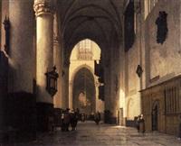 a church interior by jan jacob schenkel