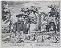 die vier jahreszeiten (suite of 4 after david vinckboons) by hessel gerrits