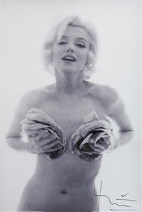 marilyn pour vogue, the last sitting (diptych) by bert stern