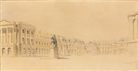 la cour d'honneur du château de versailles by noël marcel lambert