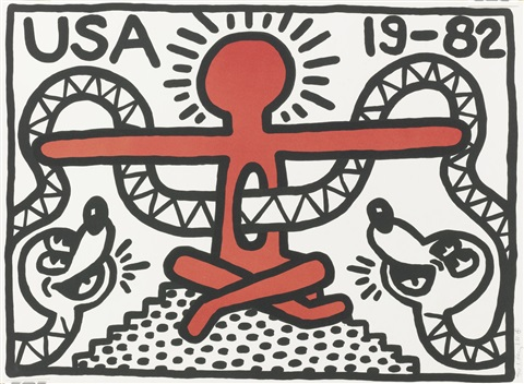 usa 19 82 by keith haring
