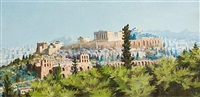 view of the acropolis by manos markantonakis
