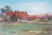 old cottage, witley, surrey (+ another; pair) by leopold rivers