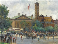 washington square rally by alfred s. mira