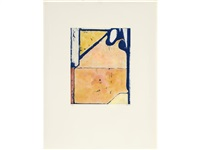 blue loop (from eight color etchings) by richard diebenkorn