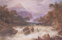 falls of the tummel, perthshire by henry gastineau