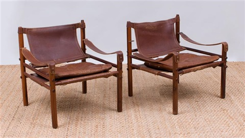 Marvelous Pair Of Arne Norell Rosewood And Leather Safari Chairs By Gmtry Best Dining Table And Chair Ideas Images Gmtryco