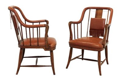 Two Armchairs By Josef Frank