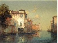 a sunlit venetian canal by noel georges bouvard