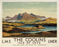 the coolins, isle of skye (poster) by william douglas macleod