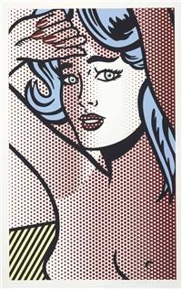 nude with blue hair by roy lichtenstein