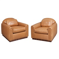 club chairs (pair) by j. robert scott