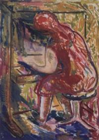 klavierspielerin by franz reinhardt