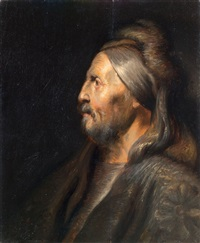 ritratto di uomo di profilo by jacob adriaensz de backer
