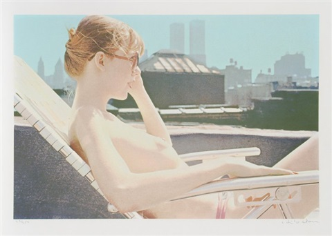 roof top sunbather from the city scapes portfolio by hilo chen