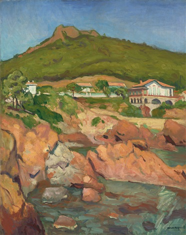 vue dagay les roches rouges by albert marquet