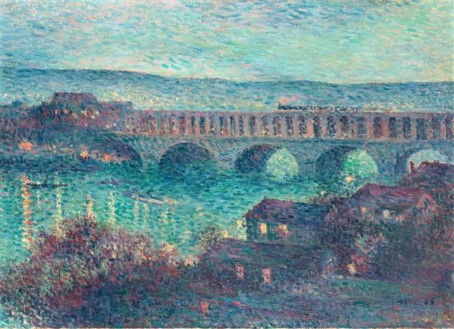 le viaduc dauteuil le pont by maximilien luce